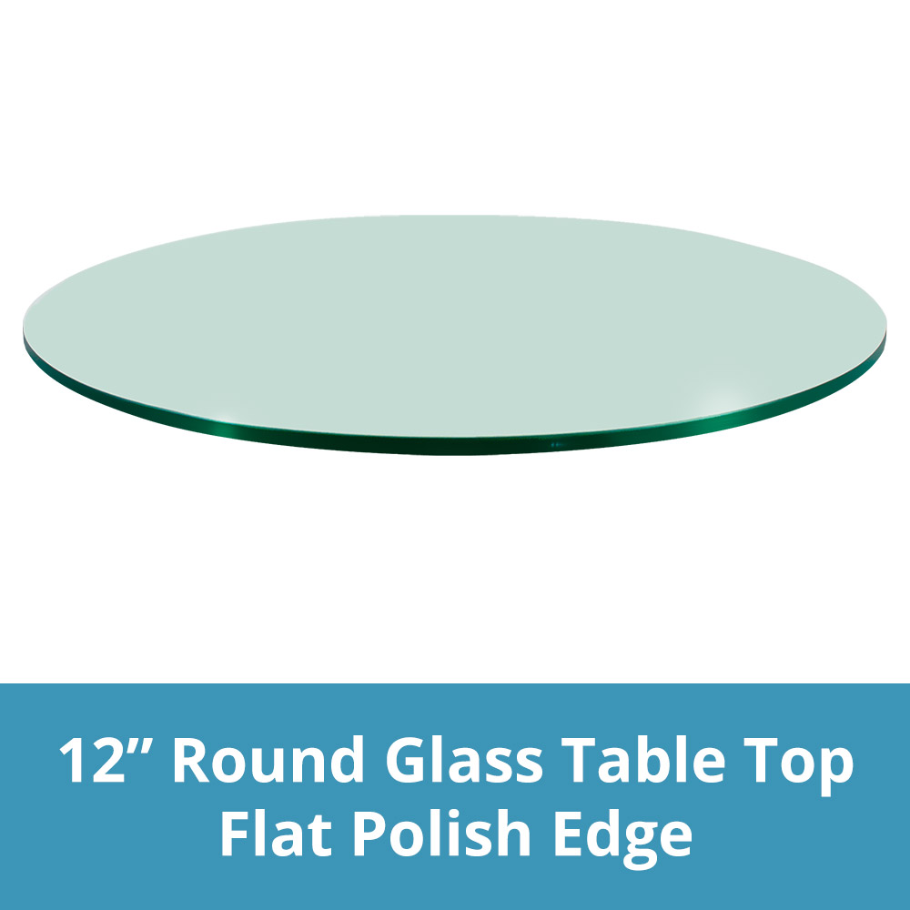 TroySys 42 Round 1//4 Inch Thick Flat Polised Tempered Glass Table Top